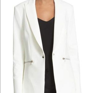 Veronica Beard White Scuba Dickey Jacket NWT SZ10